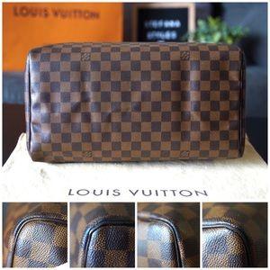 Louis Vuitton Bags - Louis Vuitton Speedy 35 Damier Ebene Satchel Bag